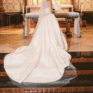 Custom Vintage Haute Couture Gown + Veil